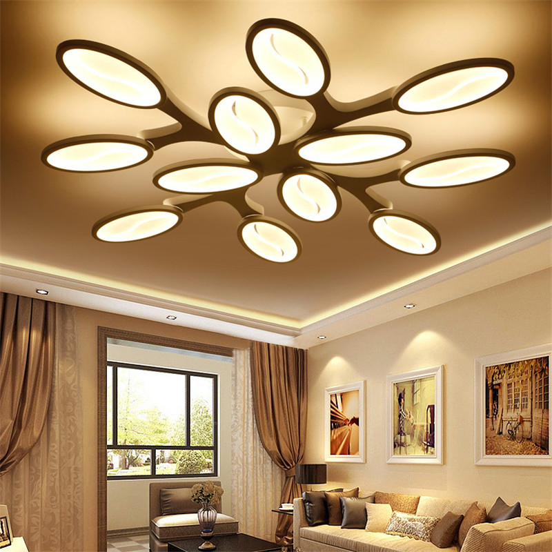 US $58.08 33% OFF|European Salon Drawing Living Bed Dining Room Long Tree  Branch Dimmable Led Modern Chandelier Light Lighting Contemporary Remote-in  ...