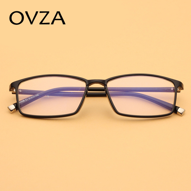 Ovza Baru TR90 Kacamata frame Pria Persegi Panjang bingkai Wanita  ultra-ringan Optik kacamata frame 6ccc8f3452