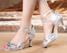New Women Silver Glitter Ballroom Latin Dance Shoes Wholesale Salsa Dance Shoes ALL SIZE