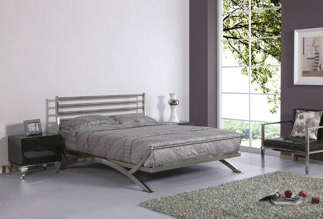 De cama de lujo cama muebles de dormitorio moderno cama de metal de ...