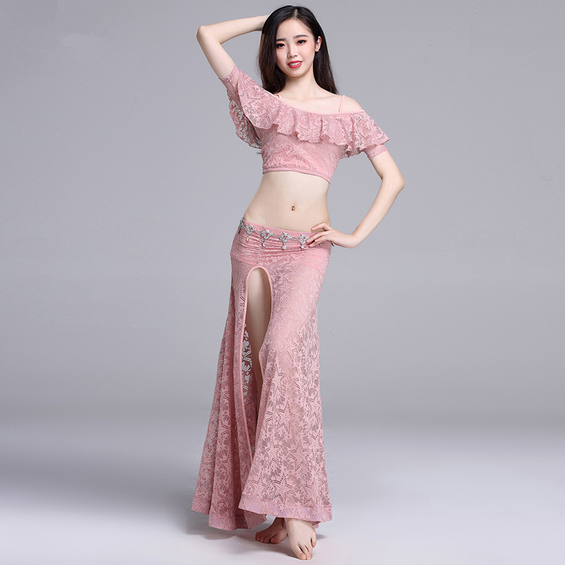 Belly Indian eastern hair swinging baladi dance costumes Bellydance oriental dancing costume robe bra belt skirt dress wear 3295