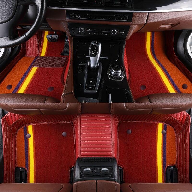 Tapis de sol de voiture pour Mini Cooper JCW Paceman Clubman Countryman R50 R52 R53 R56 R57 R58 R60 F55 F56 F57 F60 tapis de voiture J238