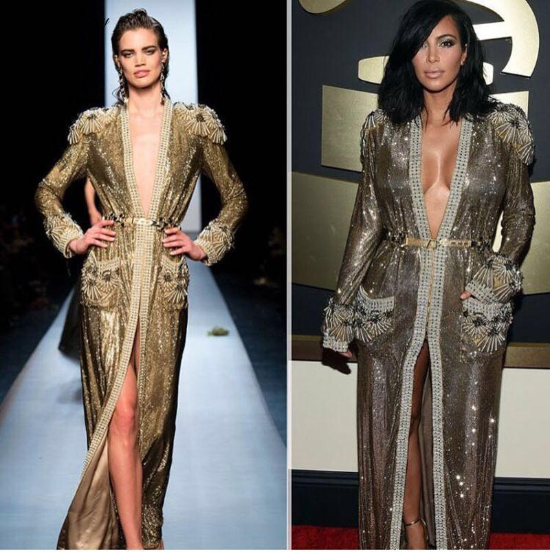 Slim Automne Longue Manches green Décoratif À Noir Femmes Et Kim Perlé Black brown Veste Printemps Vert Longues Kardashian 2017 Fit OPk0wn