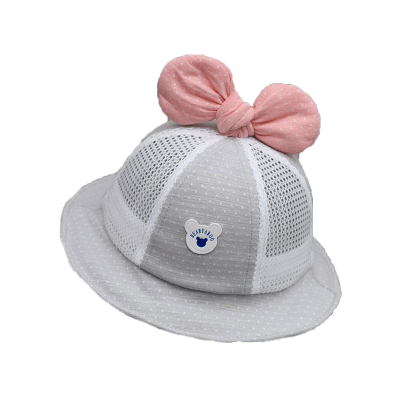 4c512b35 Summer Child Bucket Hat With Bow Mesh Patchwork Fisherman Cap Kids Outdoor  Beach Hat Cotton 2019 Boy Girl Sun Protective Caps -in Men's Bucket Hats  from ...