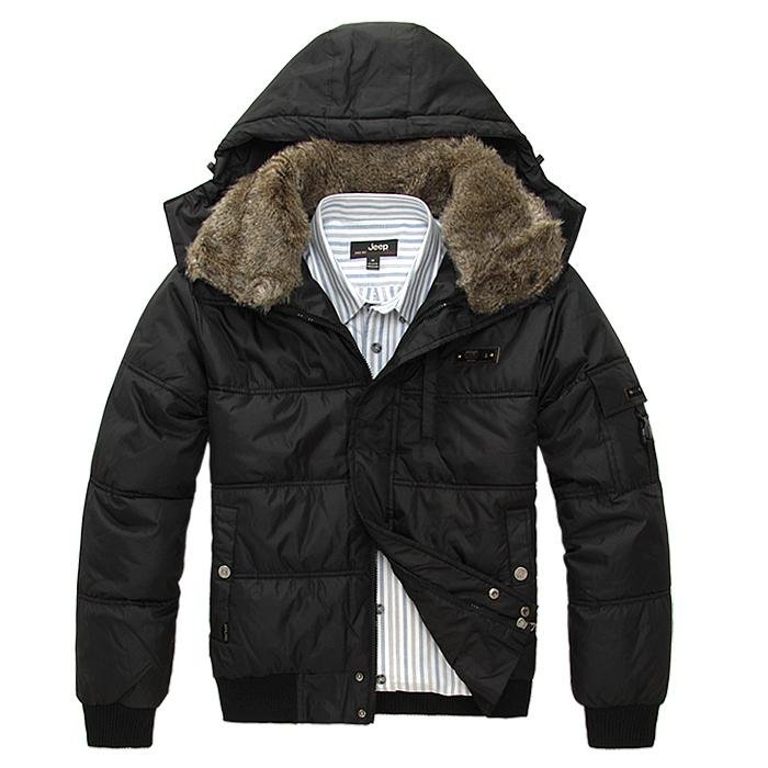 Free Shipping Real Fox Fur / Hair men&39s ex heavy down jacket