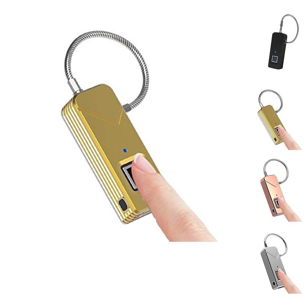 Portable Fingerprint Lock Cabinet Waterproof IP65 Keyless Security Smart Anti-theft PadlockPortable Fingerprint Lock Cabinet Waterproof IP65 Keyless Security Smart Anti-theft Padlock