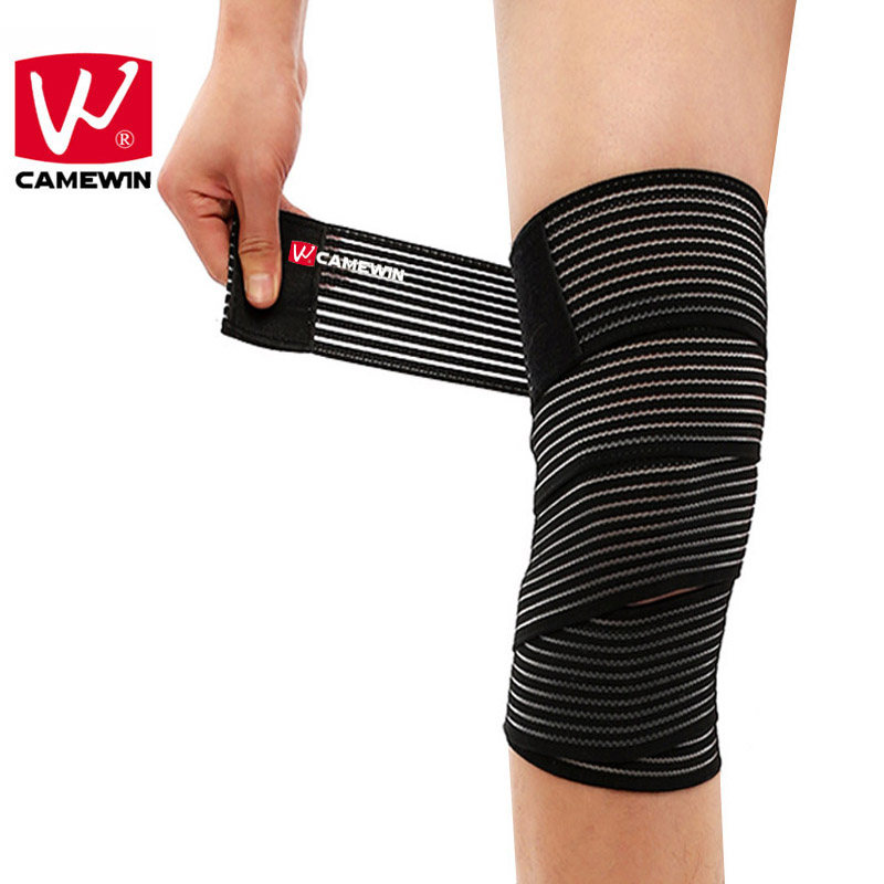 CAMEWIN 1 Piece Multifunction Bandage Knee Pads Unisex Elastic Breathable Knee Support Ankle Support Wrap Compression Strap