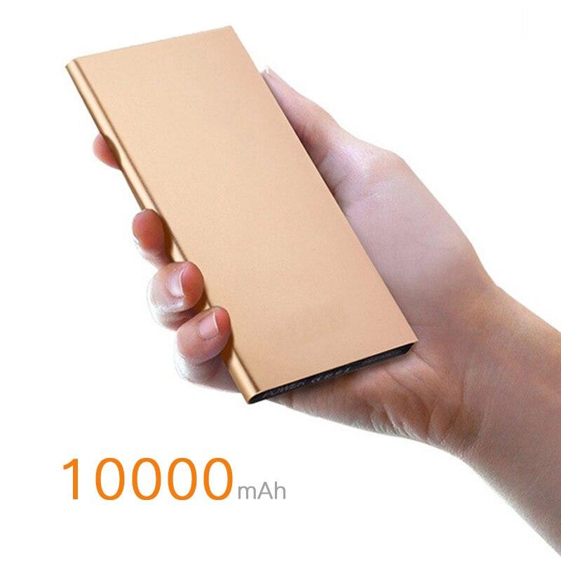 bilder für 10000 mah energienbank bewegliche externe unterstützungsbatterie-ladegerät dual usb handy power für iphone für samsung smart telefon