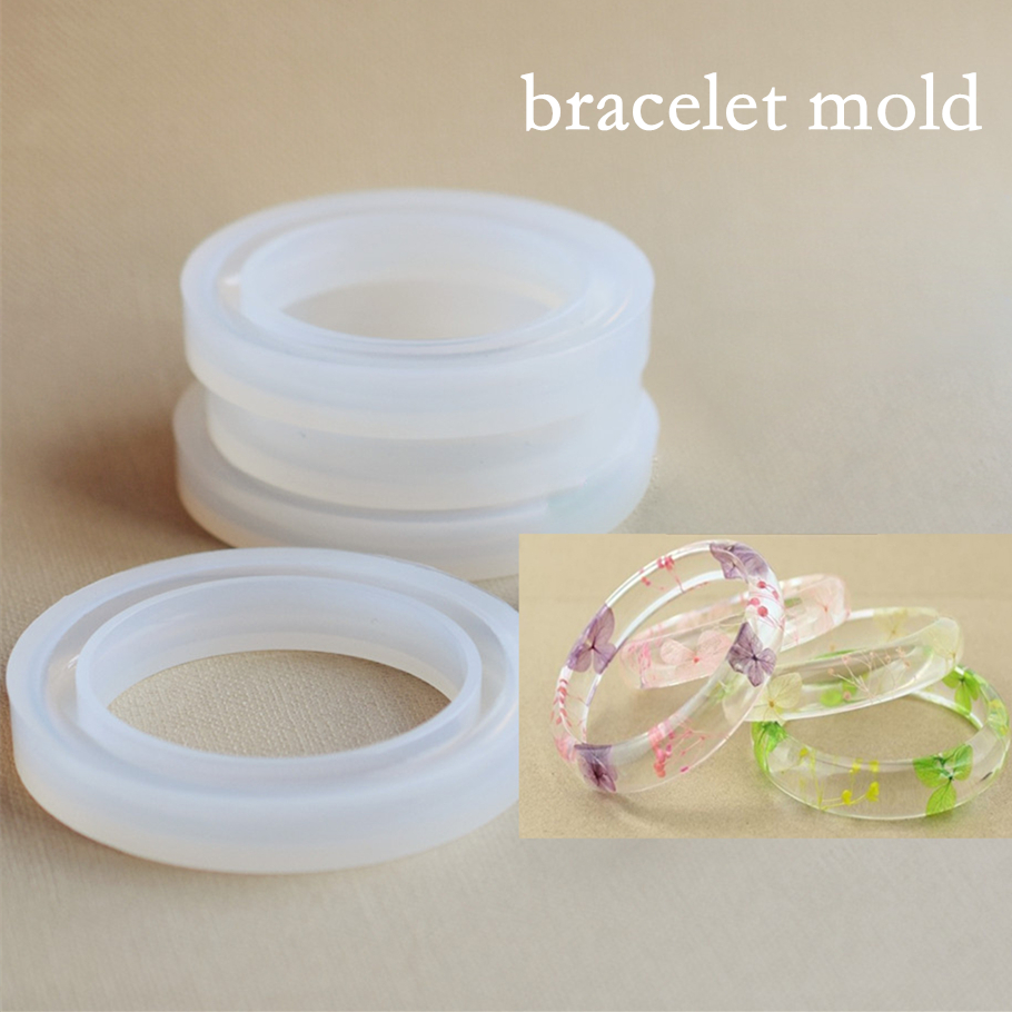 SNASAN Silicone Mold For Jewelry Bracelet Mold Resin Silicone Mould Handmade Tool DIY Craft  Epoxy Resin Molds
