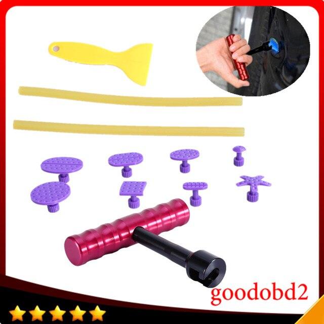 8pcs/set PDR Dent Removal Glue Tabs Dent Repair T-Bar Lifter Paintless Dent repair Tools Hand Tool Set gift glue sticks scraper