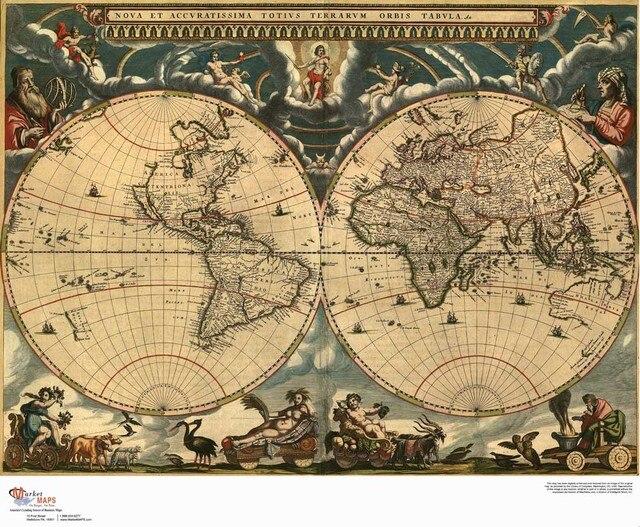 Rm dt 042 about retro vintage world map canvas oil painting cuadros rm dt 042 about retro vintage world map canvas oil painting cuadros decor wall gumiabroncs Images