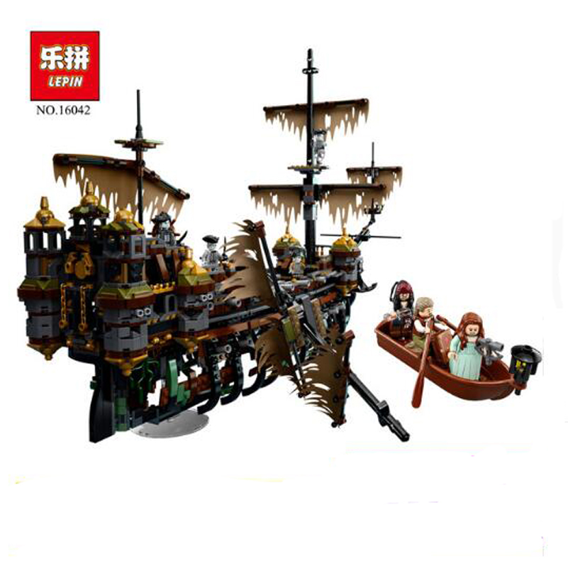 Lepin 16042 Ship Model Building Blocks Set Pirate Of Caribbean Silent Mary Compatible 2388pcs Bricks Toys Gifts For Children pirate ship metal beard s sea cow model lepin 16002 2791pcs building blocks kids bricks toys for children boys gift compatible