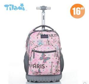 Image 2 - Kids Rolling Luggage Backpacks Kid School Backpacks with wheels kid suitcase children luggage Wheeled backpacks bag for school