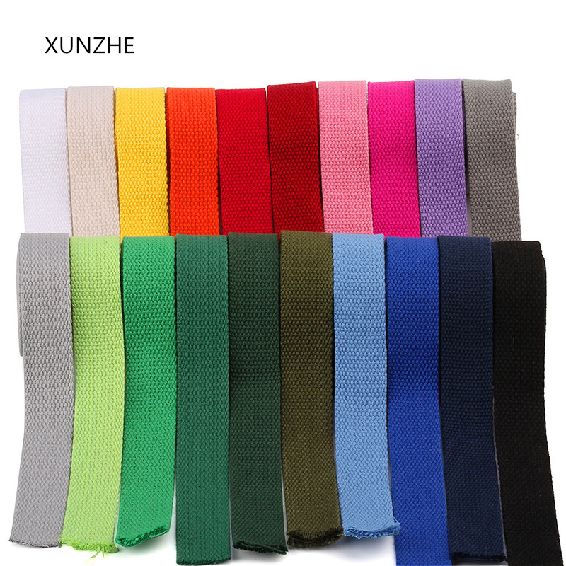 XUNZHE Webbing 6m* 25 Mm Canvas Ribbon Belt Woven Tape Nylon Band Backpack Binding Sewing Bag Belt Accessories