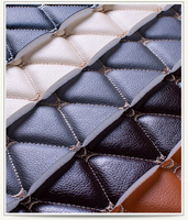 Rhombus car leather embroidery soft pack leather fabric mirror cushion pad background wall bed leather sliding door PU 1M