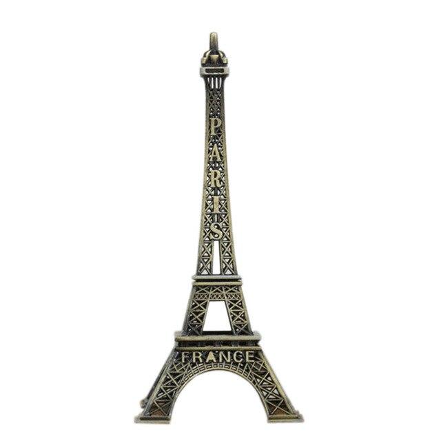 1pc 5-25cm Paris Tower Metal Crafts Creative Souvenir Model Table Miniaturas Desk Ornaments Vintage Figurine Home Decor 4