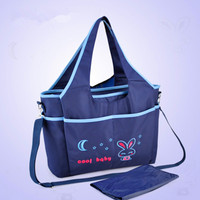 Waterproof Classic Mummy Bag Wet Bags Multi function Large Capacity Mother Stroller Bag Convertible Backpack F50