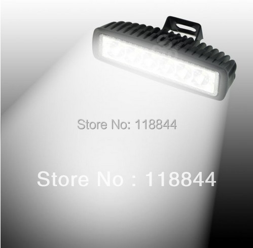 1Pcs Spot 18W LED Work Bar Light Slim Off Road Car Truck ATV UTV Fog Driving Lamp Car DRL Light Free Shipping