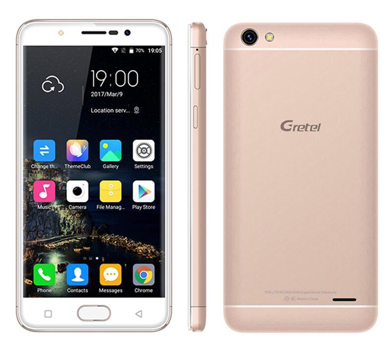"original Gretel A9 5.0"" 1280*720 IPS Mobile Phone 4G LTE Android 6.0 MTK6737 Quad-Core 2GB+16GB Fingerprint ID 8.0MP Smartphone"