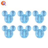 Cordial Design 50pcs/lot 34*37mm Aqua Color Chunky Acrylic Mouse Beads For Decoration CDWB-517121