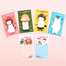 Gracebell Sticky Notes Cute Girl Memo It Sticker Kawaii Stationery Papelaria Office Material School Supplies