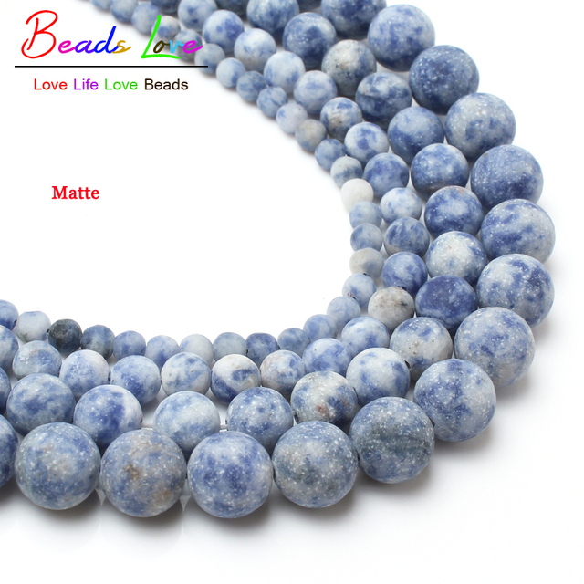 4-10mm Dull Polish Matte New Blue Sodalite Natural Stone Beads For Jewelry making 15inches losse beads making bracelet