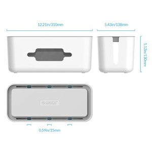 Image 3 - ORICO Storage Box Protect Box Power Strip Box for Adapter Wire/Charger Line/USB Network HUB Cable Management Box
