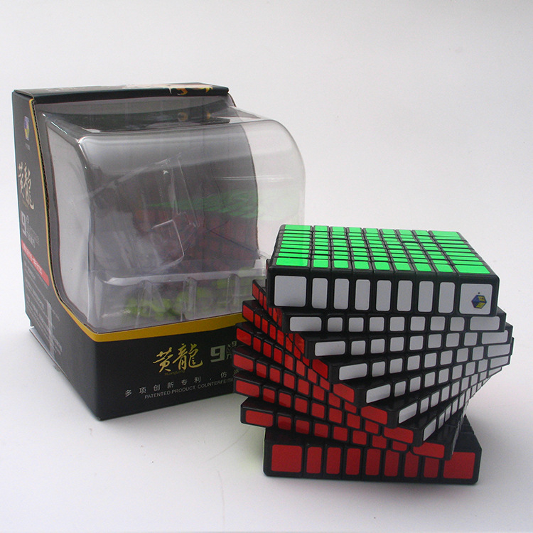 Brand Newest Yuxin Zhisheng Huanglong High Bright Stickerless 9x9x9 Speed Cube Puzzle Game Cubes Educational Magic Toys for Kids yj yongjun moyu yuhu megaminx magic cube speed puzzle cubes kids toys educational toy