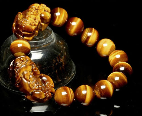 Koraba Fine Jewelry 16MM Natural Colorful Tiger Eye Stone Gemstone Beads Pixiu Men Jewelry Bracelet Free Shipping new men bracelet 8mm tiger eye stone