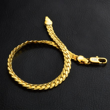TANGYIN 2018 Best sell DIY Jewelry Fashion Boutique Gold Yellow Gold 5M Side Bracelet for Men and Women Free Shipping