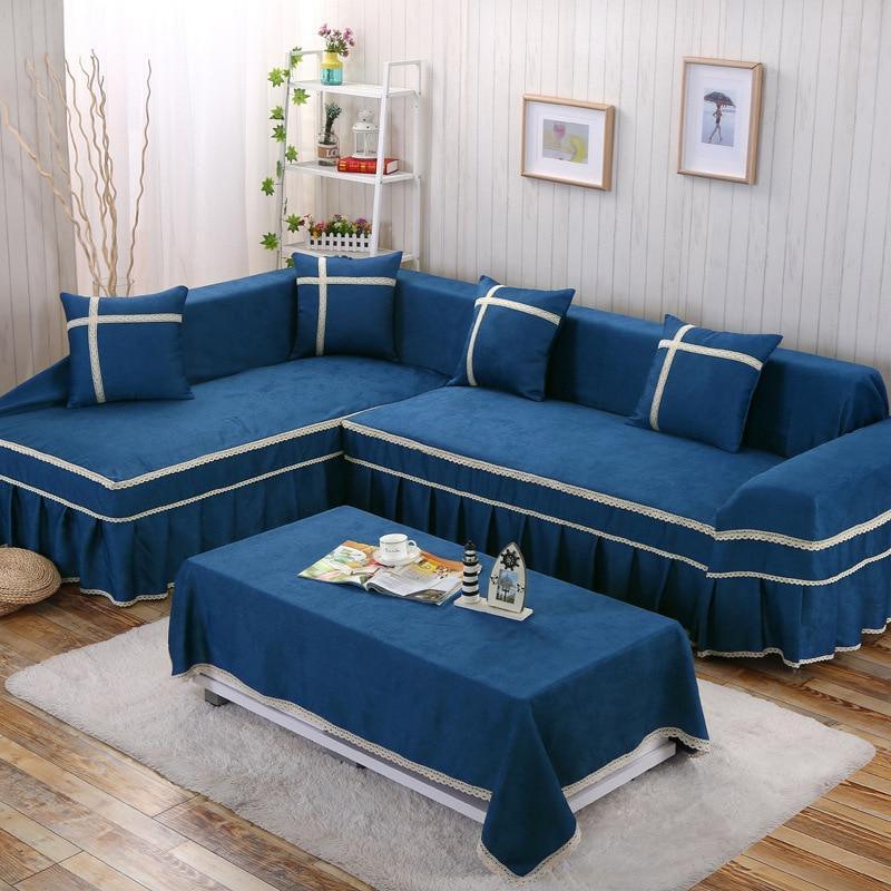 2 Seater Blue Velvet sofa