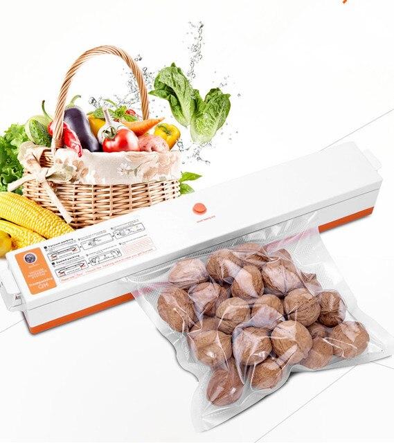 Mini Portable Vacuum Sealing Machine Vacuum Sealer Food Storage Hot Press  Bag Seal With 15 Free