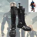 Hot Captain America 2 The Winter Soldier Bucky Barnes para hombre Cosplay Shoes Boots