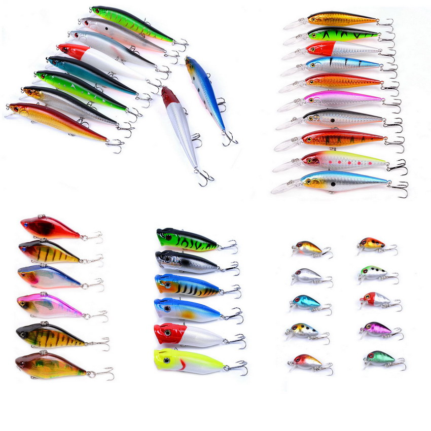 Minnow VIB Popper Crankbait Fishing Lures Pesca 42pcs 497.76g Minnow Crankbait Lure Artificial Quality Wobblers Fishing Tackle 30pcs set fishing lure kit hard spoon metal frog minnow jig head fishing artificial baits tackle accessories