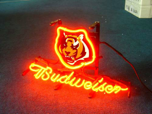 Business NEON SIGN board For CINCINNATI BENGALS Football Basketball Real GLASS Tube BEER BAR PUB Club Shop Light Signs 17*14""