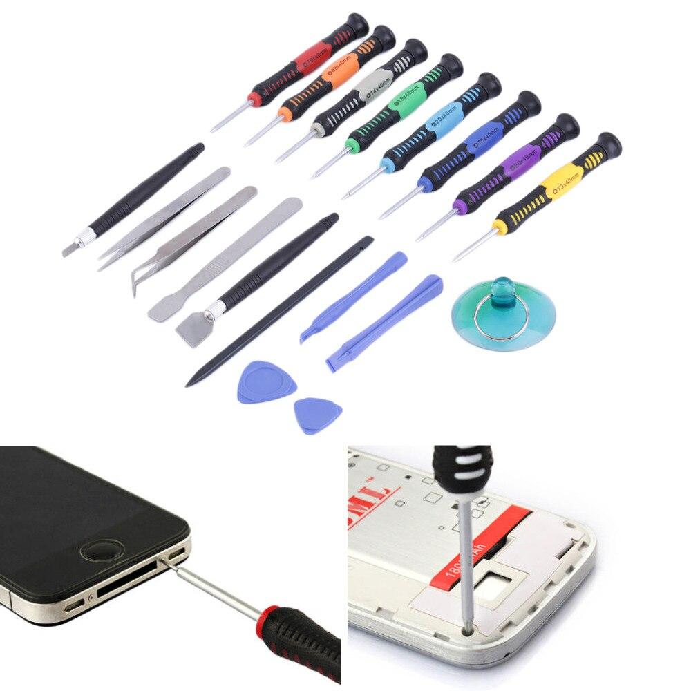 2016 Hot 19 en 1 En Acier et En Plastique Professional Téléphone portable Outils De Réparation Tournevis Kit pour Appareils Mobiles Marque