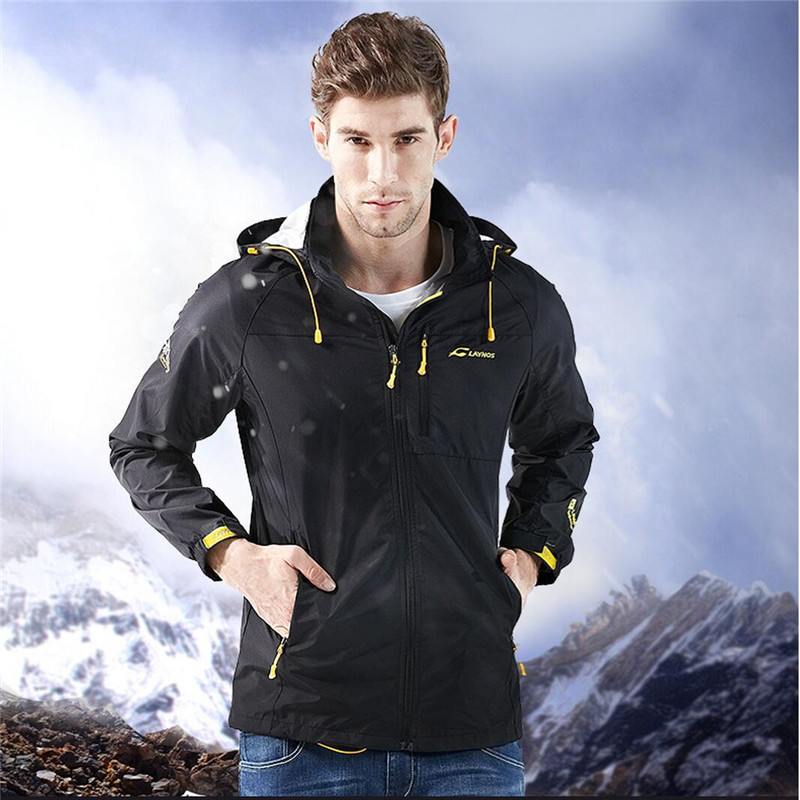 FreeShipping-2016 Men Outdoor Sport Spring/Summer/Autumn Warm Breathable Water/Windproof Single Layer Quick-dry Jacket 160D321AB outdoor men s spring summer quick dry breathable ultra thin tactical clothes male windbreaker skin coat rash guards jacket