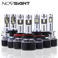 NOVSIGHT H4 H11 H8 H16jp H7 LED Car Headlights Bulbs 70W 10000LM H15 Hi Lo Driving