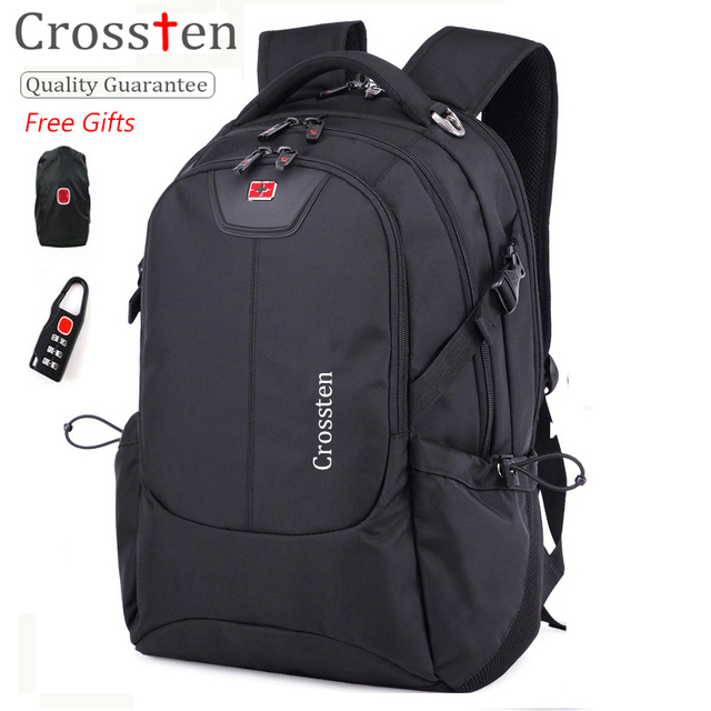 Crossten Swiss Army Multifunctional USB Cable Laptop Bag 16″ Laptop Backpack Versatile schoolbag Travel Bag Rucksack with gifts