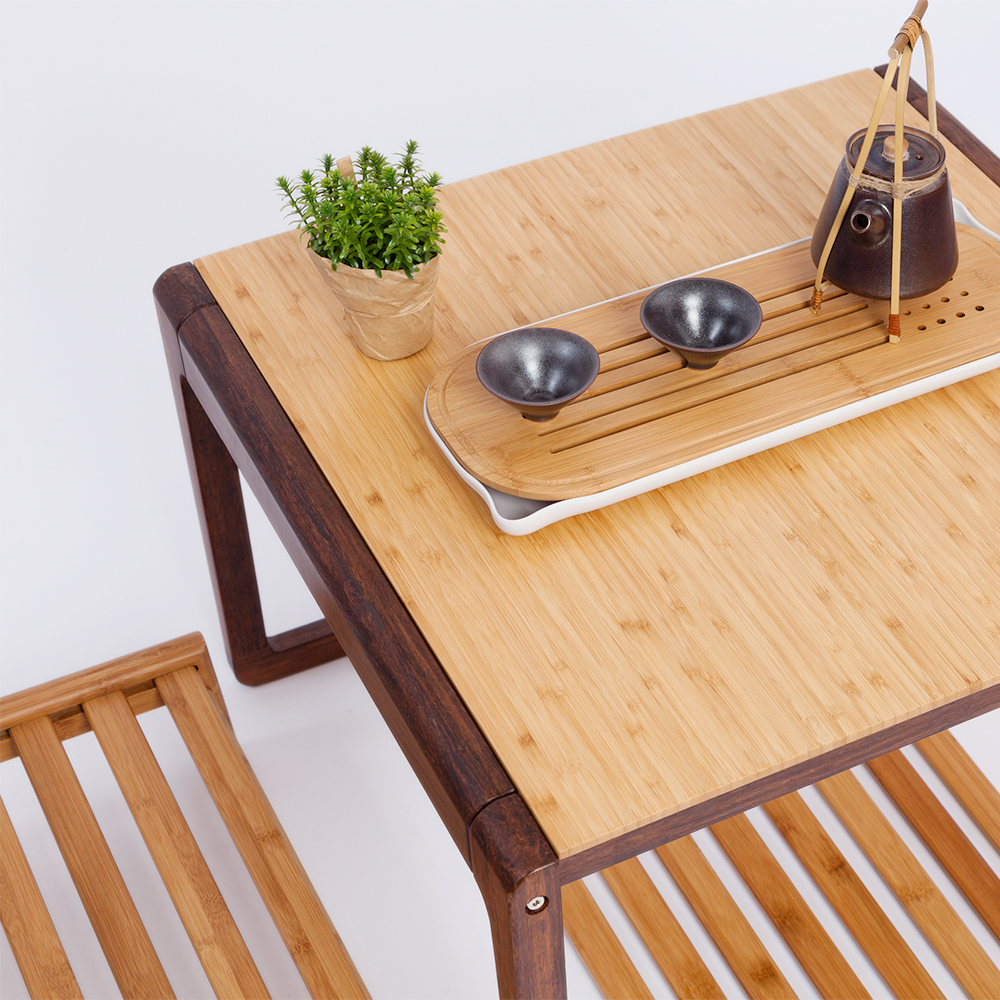 Delicieux Square Tea Table Modern Chinese Style Bamboo Coffee Table Wooden Table  Living Room Home Furniture In Coffee Tables From Furniture On  Aliexpress.com ...