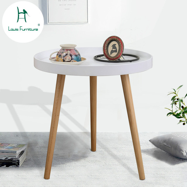 Louis Fashion Coffee Tables Nordic Small Round Sofa Bedside Mini Moving Corner Several Living Room Modern
