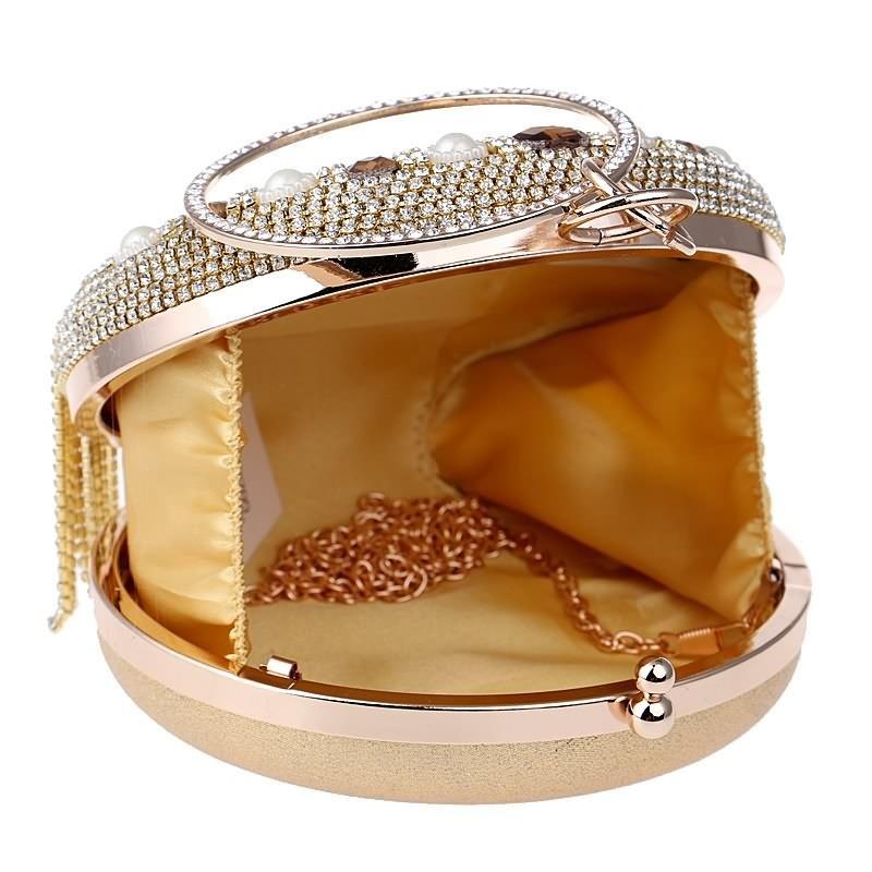 dac06fb1071bb Luxy księżyc kobiet diament ślub panna młoda torby złota kopertówka ...