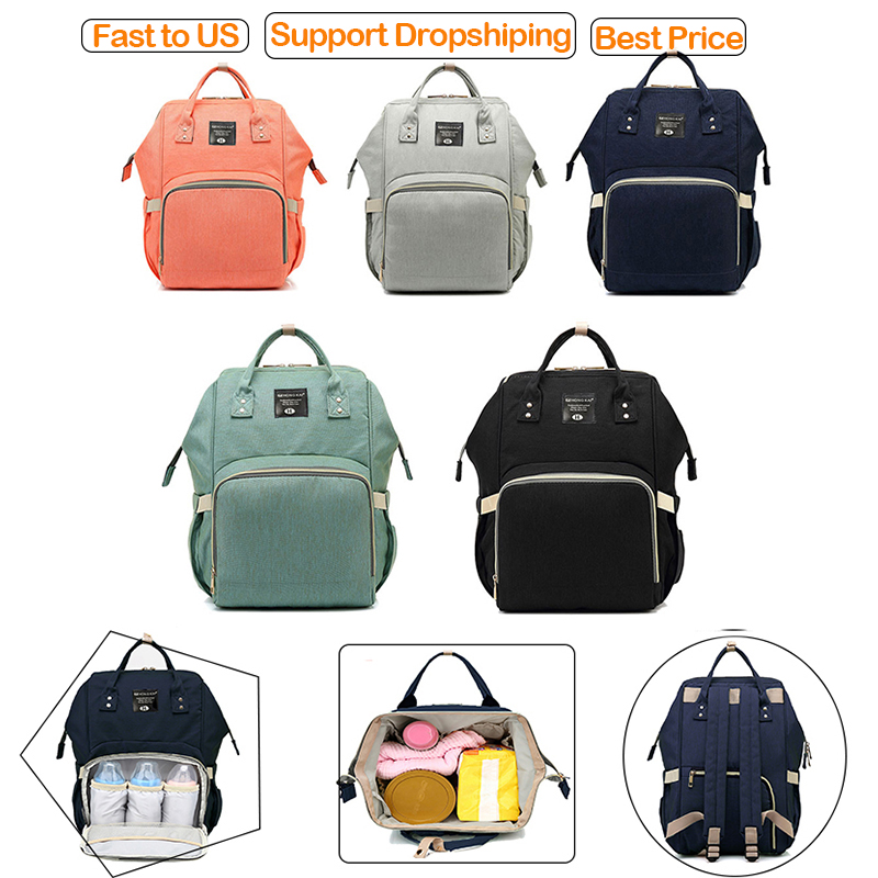 2019 NEW Fashion Baby Diaper Bag Large Capacity Multi-function Travel Women Bag Baby Care Nappy Nursing Mummy Bag Women Backpack