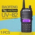 Walkie talkie baofeng uv-82 dual-band 136-174/400-520 mhz fm ham rádio em dois sentidos, transceptor, walkie talkie