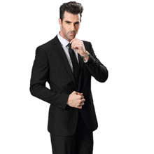 fashion style Tuxedo Wedding Suits for Men (jacket+pants +tie) Man Suits custom long Sleeve Single Breasted Wedding suit