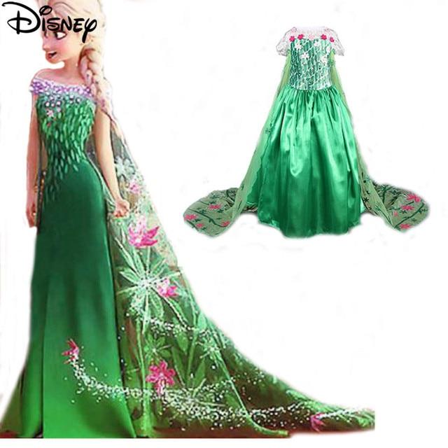Disney Gefrorene kleid sommer grün elsa kostüme Mädchen Cosplay ...