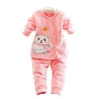 2016 Autumn Winter Newborn Baby Clothes Set 2PCS Cotton Baby Boy Clothes Winter Baby Girl Clothing Sets Infant Clothing
