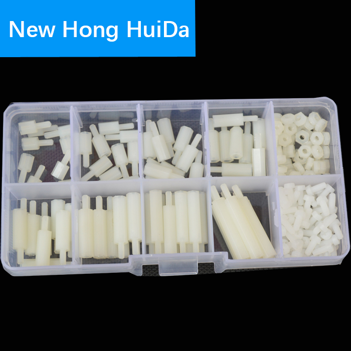 M2.5 Male Nylon Hex Standoff Plastic Thread PCB Motherboard Spacer Assortment Kit White Quadcopter Drone Computer Circuit Board