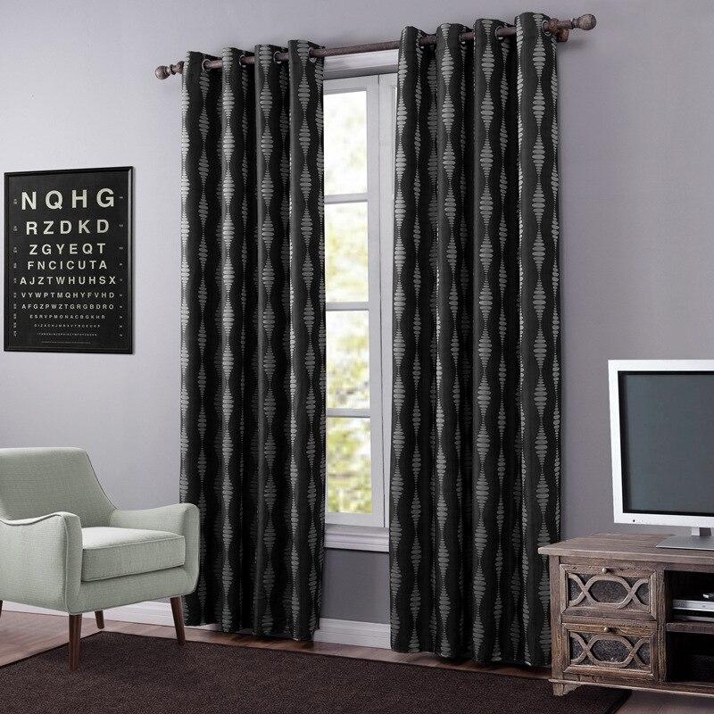 chaude noir blackout rideaux pour salon pais bande rideau tissu rideaux cuisine moderne rideaux. Black Bedroom Furniture Sets. Home Design Ideas