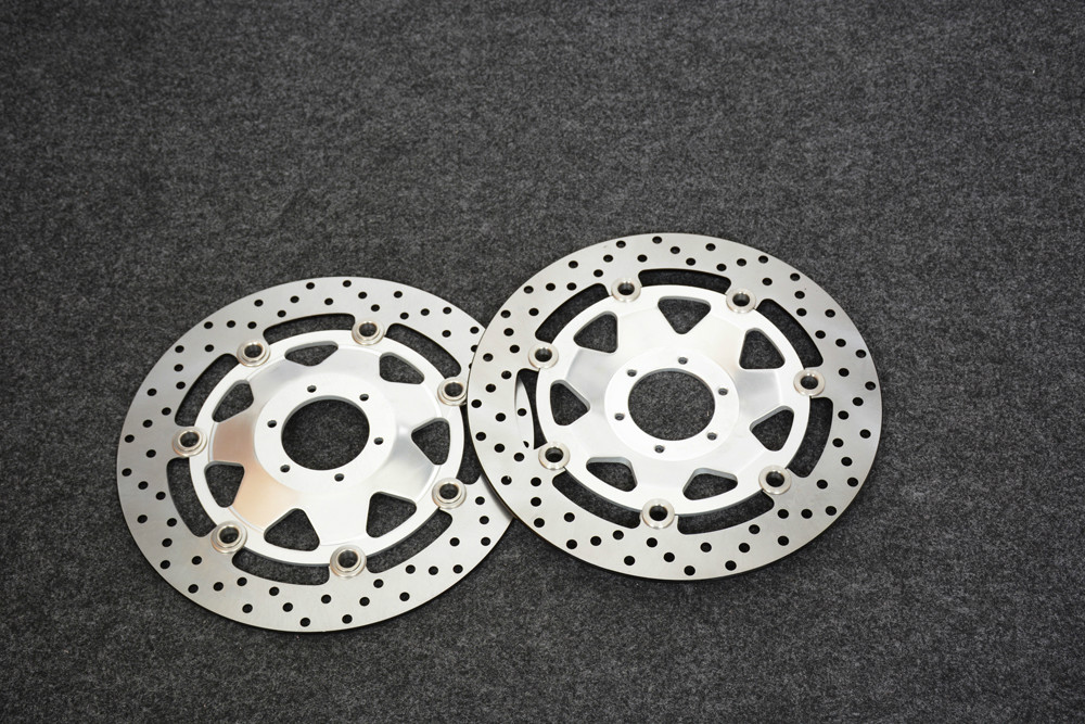 Motorcycle Front Brake Disc Rotors For honda GL1800 2001-2012 Correspondence year universal ring of fire blue brake disc rotors covers for honda goldwing gl1800 2001 2014